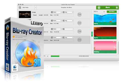 Leawo Blu-ray Creator for Mac – Best Blu-ray burning